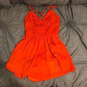 Forever 21 Orange Dress Romper